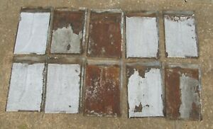Vintage Victorian Embossed Roofing Tin Tiles Tile Shingle Lot (100) Tulip Design