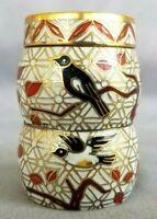 White Bird Cloisonne Trinket Box Pill Box Snuff Chinese Lidded China Enamel