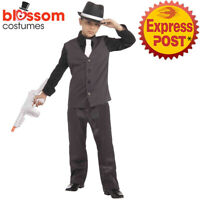 CK1492 20s Lil Gangster Boys Mob Boss 1920's Great Gatsby Fancy Child Costume