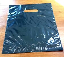 "50 BLACK 9""x 12"" DIE CUT PLASTIC SHOPPING RETAIL BAGS"