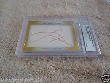 Jack Nicklaus Annika Sorenstam 2014 Leaf Masterpiece Cut Signature auto card 1/1