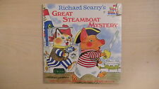 SEALED Richard Scarry's GREAT STEAMBOAT MYSTERY Book & Record 1975
