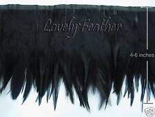 "72/"" SCHALPPENS FRINGE BLACK IRRIDESCENT 6-8/"" Feathers"