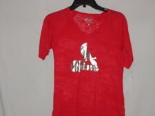 St. Louis Cardinals V-Neck t-shirt-BURNOUT-Lady BIRDS luv this #1 SELLER-MEDIUM