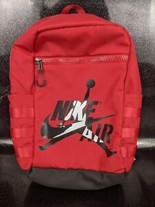 Nike Air Jordan Jumpman Classic Retro Large Backpack Gym Red Black