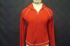 Delias Womens Hoodie Size Small Zip Front Long Sleeve Cotton Red
