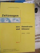 Zeitzeugen as Demokratie und Diktatur 1930-50 Band 2