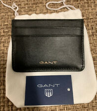 New Mens GANT leather Card Holder, Black
