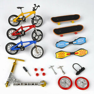 1 Set Mini Bike Scooter Finger Skateboard Fingerboard Educational Toys Kids Gift