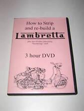 "Original DVD  ""HOW TO STRIP AND REBUILD A LAMBRETTA""..."