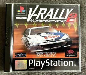 V-Rally 2 (Sony PlayStation 1, 1999) - VGC complete Black label PAL