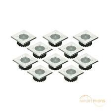 Solar LED Bodeneinbaustrahler Einbaustrahler Bodeneinbauleuchte eckig 10er satz