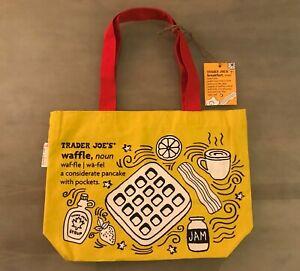 Trader Joe's Breakfast Waffle Toast Milk Jam Shopping Reusable Grocery Eco Bag