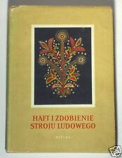 BOOK Polish Folk Embroidery antique textile ethnic costume regional dress POLAND