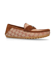 Gucci Men's Canvas GG Driving Loafers Shoes Size 7 Gucci 8 US $520
