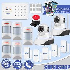 APP Control G18 Wireless GSM SMS Home Intruder Alarm System 720P WiFi IP Camera