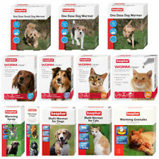 More details for beaphar dogs & cats worming wormer treatments tablets cream roundworm tapeworm
