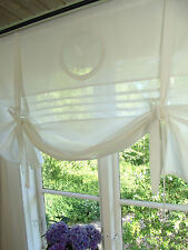 Raff Gardine MATHILDE WEISS Rollo 180x100 LillaBelle Shabby Landhaus Curtain