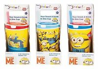 Snack & Drink Cup Food Container Despicable Me Minion Kids Tots Cup Drink New