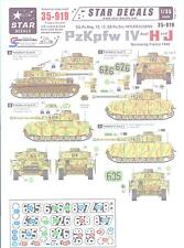 Star Decals 1/35 PANZER IV PzKpfw IV Ausf H and J German Tanks