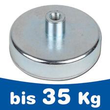 Neodym 10 Magnete Topf Flach Magnet mit Bohrung für Schraube Kfz Auto