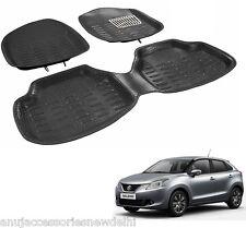 4D or 3D Crocodile Foot Mats Car mats Black Color for Maruti Suzuki Nexa Baleno