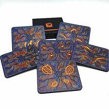 Set 6 Coasters Australian Cork Backed Aboriginal Dot Art Stories JIJAKA Boxed