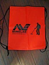 Minelab Metal Detecting Backpack Lightweight Red W/ Detectorist New