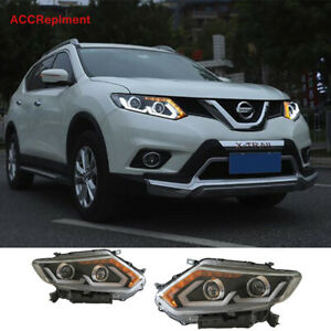 For Nissan Rogue LED Headlights assembly 2014-2016 Double Beam Lens Projector