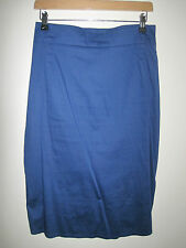 LULU & RED designer bustle fish tail SKIRT 8 pin-up BLUE VINTAGE STYLE