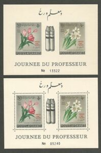 AOP Afghanistan 1961 UNESCO Flowers MS perf & imperf MNH (2)