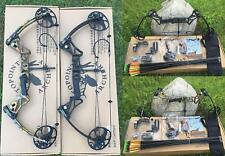 IRQ 20-70 Lb Right Compound Bow & Arrow Target Archery Hunting Kit Black/Camo