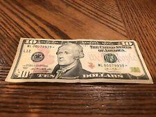 $10 Ten Dollar 2013 Star Note ✫ Low Serial Number Real U.S. Currency MULTIPLE #S