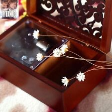 Rectangle Wood Carving Jewelry  Wind Up Music Box : MY HEART WILL GO ON @TITANIC