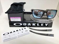 Oakley CROSSRANGE XL SUNGLASSES GREY SMOKE/PRIZM DEEP H2O POLARIZED OO9360-0958