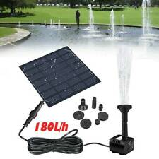 Solar Power Fountain Submersible Water Pump With Filter Panel Pond Pool 180L/h
