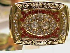 1987~N.F.L.~WASHINGTON REDSKINS~SUPER BOWL Championship Ring Heavy~gold plate Fi