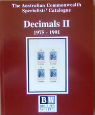 AUSTRALIA 2002 BRUSDEN WHITE DECIMAL VOLUME 2 1975-1991 SPECIALISTS CATALOGUE