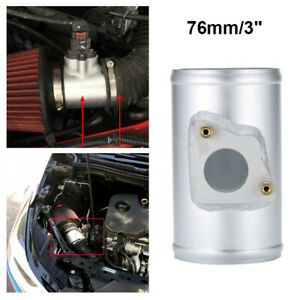 76MM Air Intake Tube Air Flow Sensor Mount Adapter fits TOYOTA SUZUKI MAZDA 3 6