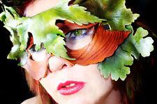 Green Man Spring Mask Handmade Leather Venetian Masquerade greenman