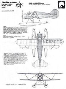 1/72; KHEE-KHA Resin: EDO 38-3430 Floats - Beech - Cessna - Stinson - Waco