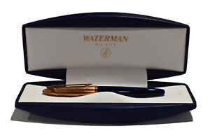 VINTAGE WATERMAN EDSON LUMINOUS BLUE MED POINT FOUNTAIN PEN WITH BOX PPRWRK
