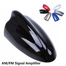 Black Big Shark Fin Style Car Roof Antenna FM Signal Amplifier Aerial Universal