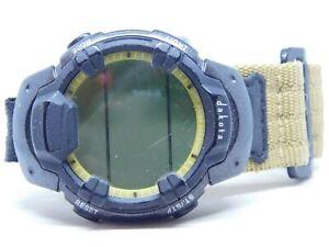 Dakota Black Tone Case Nylon Strap Quartz Digital Men's Watch