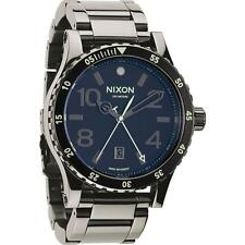 Brand New Nixon Diplomat SS Black Dial Stainless Steel Mens Watch A277 1885