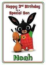 bing cbeebies personalised A5 birthday card son daughter niece nephew name age