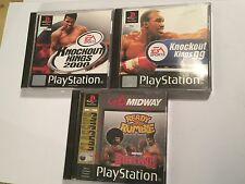 3 PS1 PLAYSTATION 1 BOXING GAMES KNOCKOUT KINGS 1999 + 2000 + READY 2 TO RUMBLE