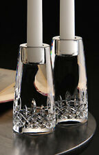 """NEW Waterford Crystal, Lismore Encore 5"""" Crystal Candlesticks, Pair"""