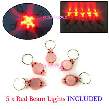5PCS x 620nm Super Red Beam LED Micro Portable Mini Keychain Lights Dual Switch