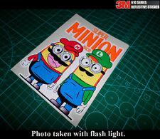 Super MINION Mario BROS. JDM Car Laptop notebook 3M Reflective Sticker